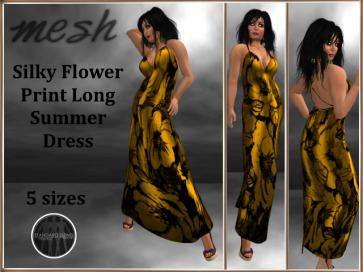 [RPC] Mesh ~ Flower Print Dress ~ Gold