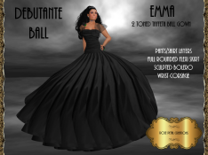 [RPC] Emma Ballgown in Black