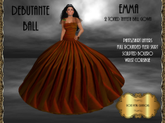 [RPC] Emma Ballgown in Bronze