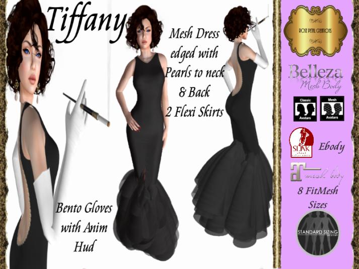 RPC Tiffany Dress in Black SL